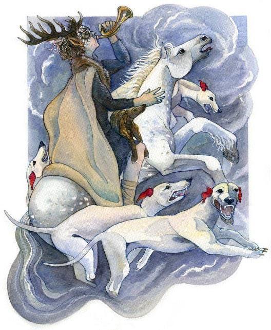 """Wild Hunt -  Cŵn Annwn (Welsh: """"hounds of Annwn"""")"""