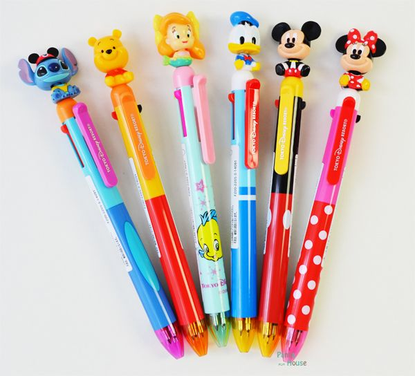Tokyo Disney Resort-limited Ballpoint&Mechanical Pen Moving Head Limited in Tokyo Disney Resort with 2014 three colors of disney character ★ many functions pen ☆ ball-point pen mechanical pencil mascots
