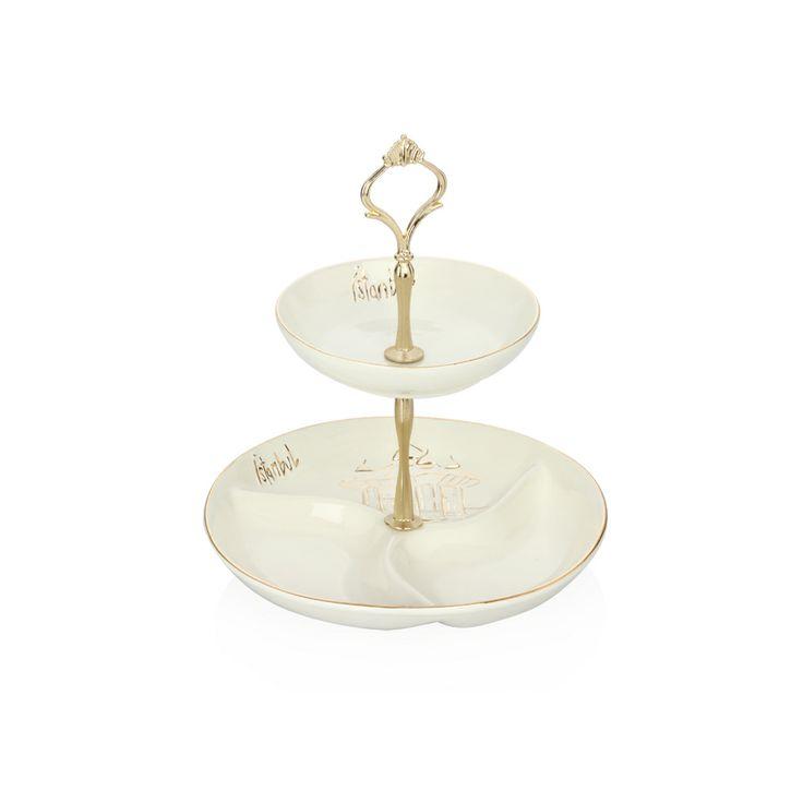Bernardo Istanbul Collection Katlı kurabiyelik / Desert Plate #bernardo #istanbul #platter #tabledesign #teaparty