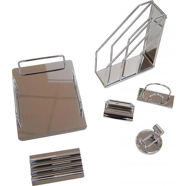 ... Tape Dispenser, Magazine Holder, Pen Tray, Letter Holder And Business  Card Holder. Everything Needed To Help Organize Your Home Office Or ...
