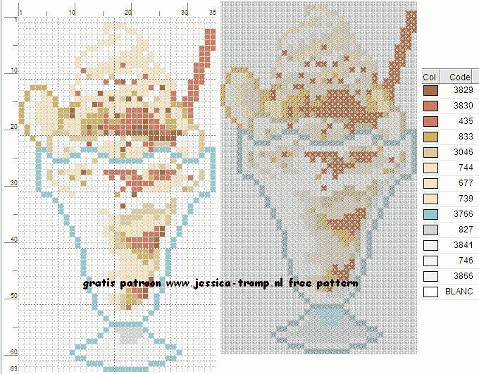 77 Free cross stitch designs ice drinks stitchingcharts borduren gratis borduurpatronen ijs dranken drankjes kruissteekpatronen