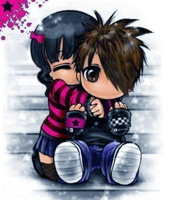 Cute Emo Love Cartoons