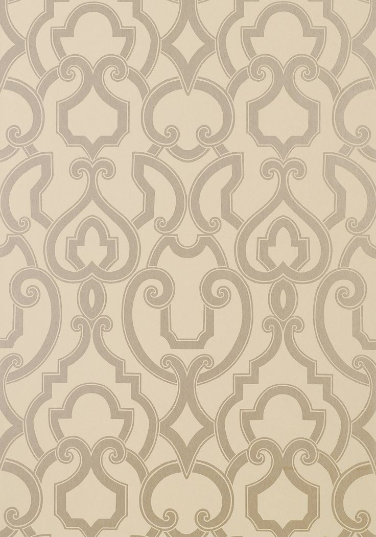 ROYAL, Metallic Silver on Grey, T763, Collection Artisan from Thibaut