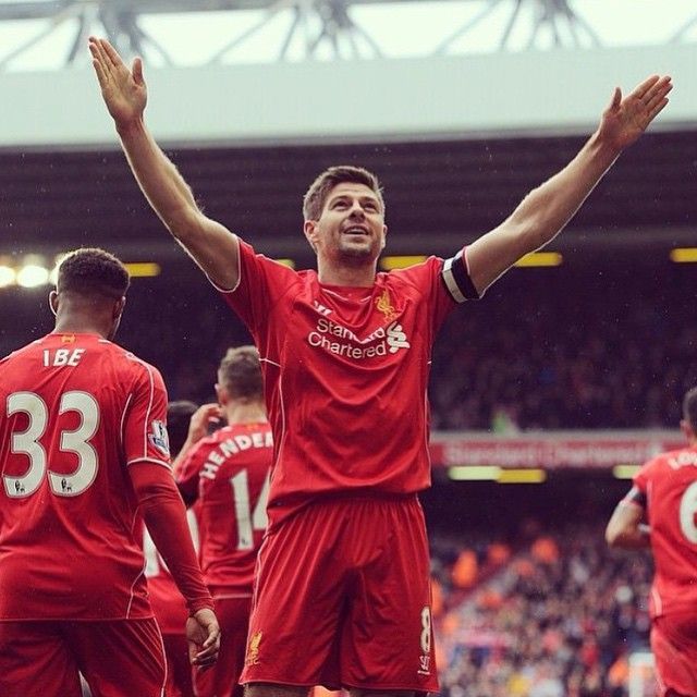 So proud of our captain @stevengerrard today. Happy for his goal and the team victory. He deserves all the praises and is a living legend and idol as a person and football player for everyone to look up to. It is an honour to be a part of a team he leads! #YNWA