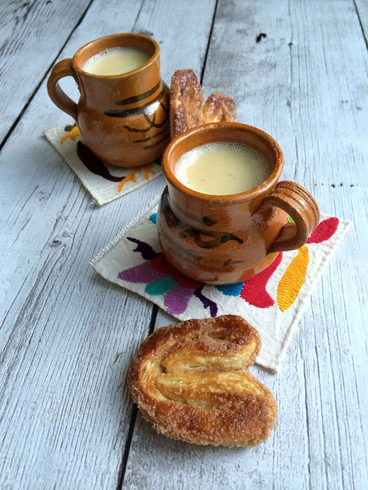 How to make Mexican atole de vainilla, a traditional masa-based hot beverage. Recipe made with milk, Maseca, piloncillo, vanilla bean and Mexican cinnamon. Serve with pan dulce! This drink is most popular around Day of the Dead and the holidays.