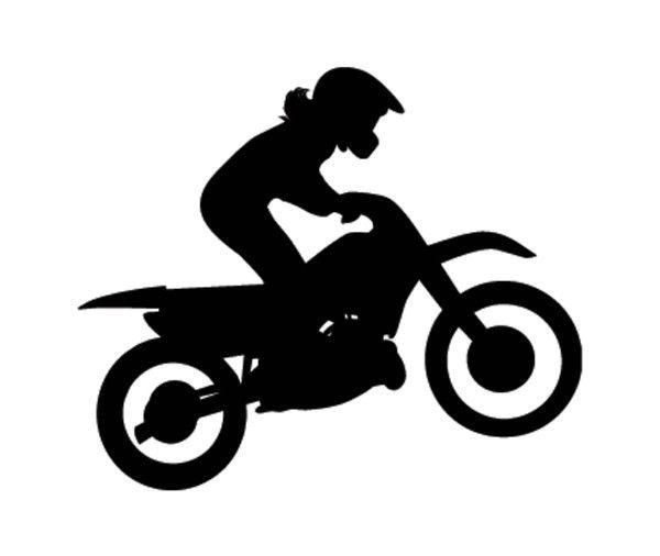 499 sport silhouette motocross dirtbike female girl