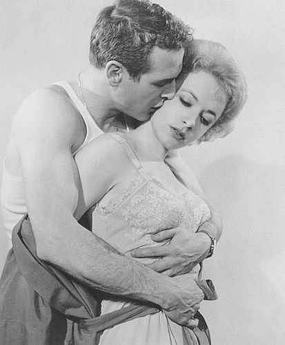 """Piper Laurie and Paul Newman in """"The Hustler"""" 1961"""