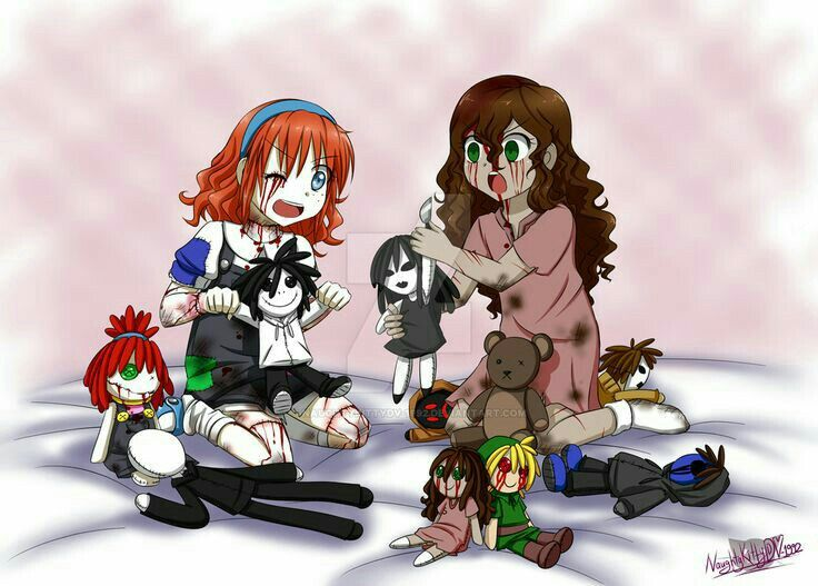 Suicide Sally, Doll Maker, Creepypasta characters, girl, red hair, dolls, cute; Creepypasta