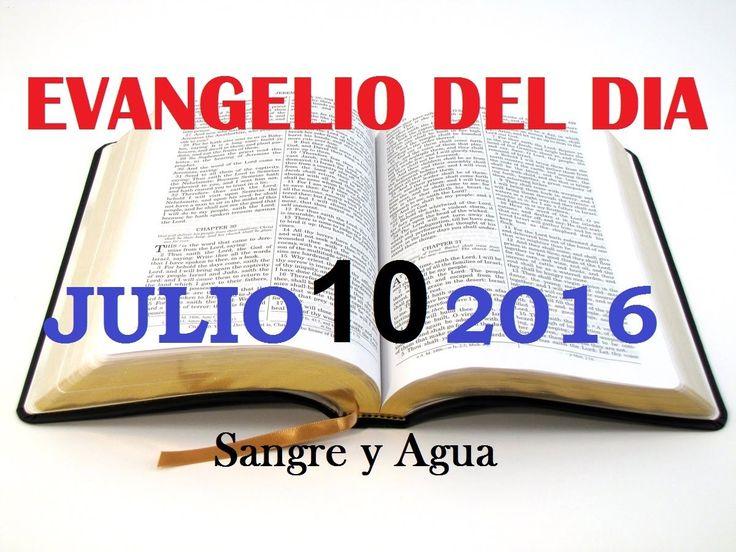 Evangelio del Dia- Domingo Julio 10, 2016- Sangre y Agua