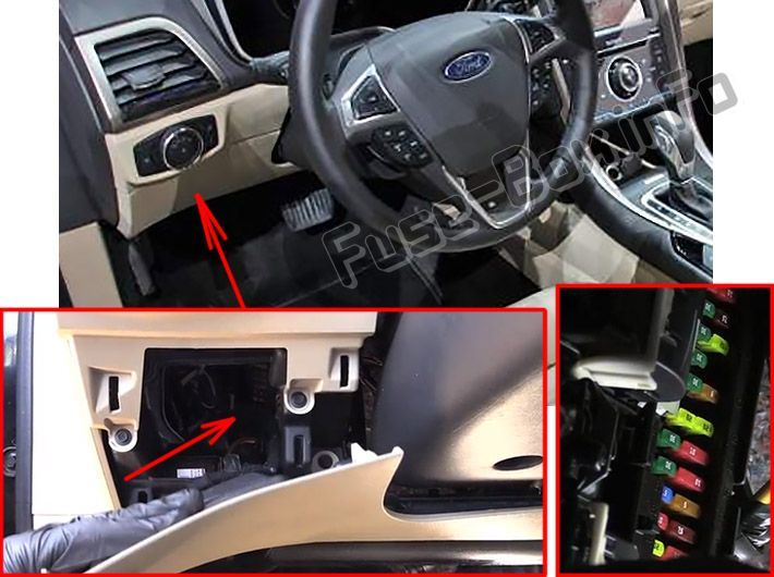 Ford Fusion Hybrid Energi 2016 2019 Fuse Box Location
