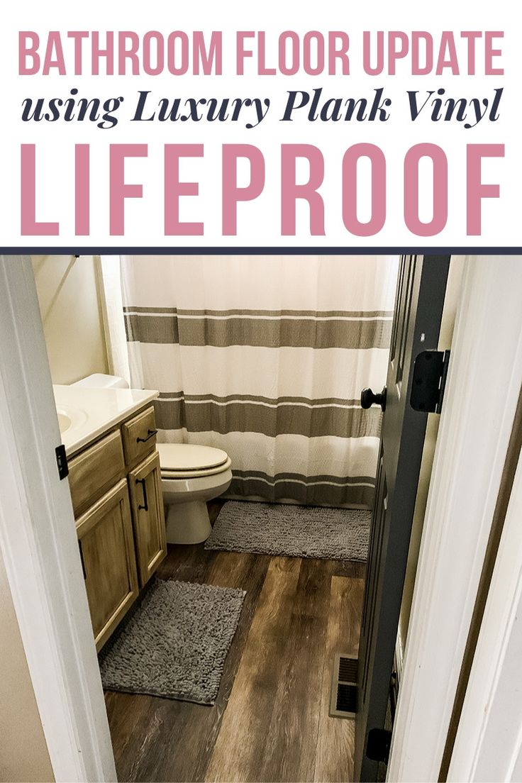 LifeProof Vinyl Bathroom Floor Installation in 2020