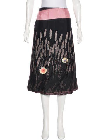 Prada Silk Wheat Print Skirt ($76)