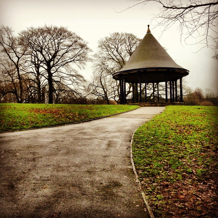 Bandstand in Brough Park, Leek, Staffordshire.