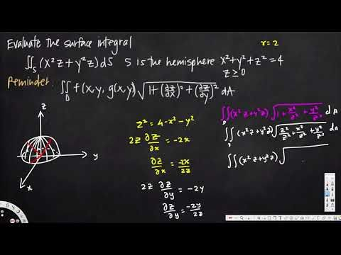surface integral, example 2 -  Vector Calculus