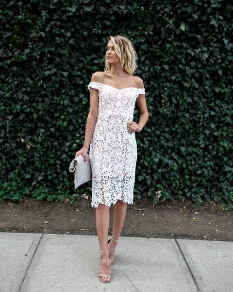 Charm Me Lace Dress - White – VICI
