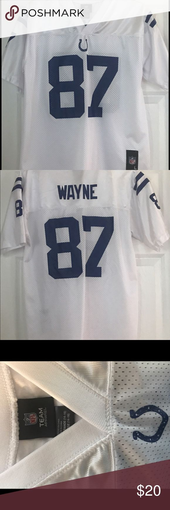 NFL Reggie Wayne Colts Jersey Go, Horse!!  NFL Indianapolis Colts Jersey.  In perfect used condition. Have questions?  Just ask!  😊 NFL Shirts & Tops