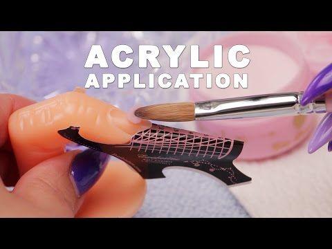 DIY Nail Workshop - Acrylic Application - YouTube