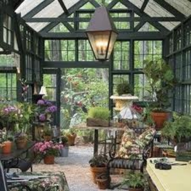 Rustic conservitory greenhouses sunrooms indoor for Victorian sunroom designs