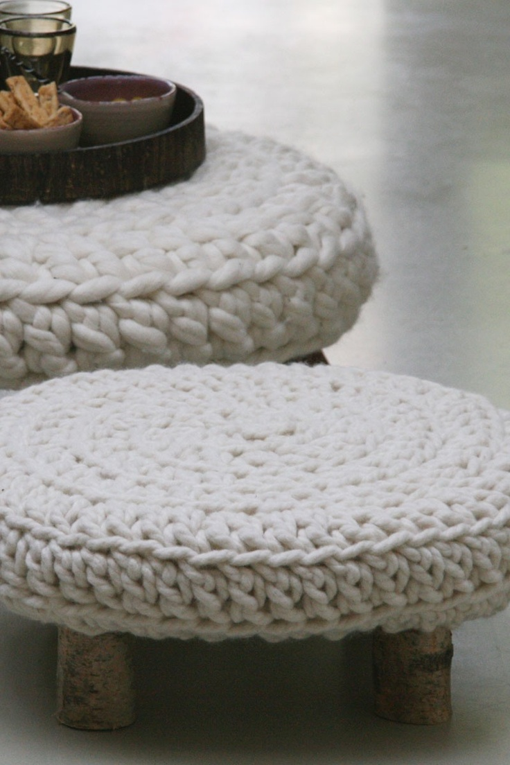 i am a huge fan -- HUGE -- of knitted furniture.