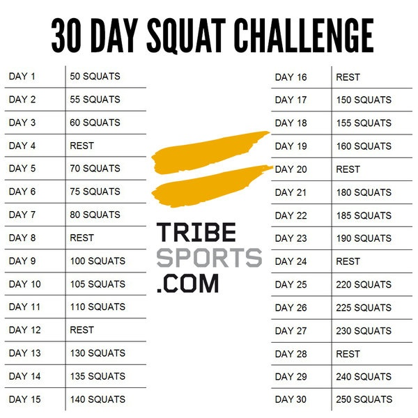 30 Day Squat Challenge | Take The Challenge Now!