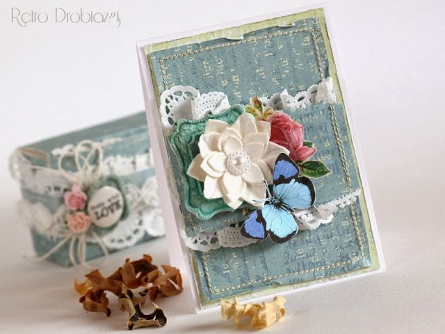 scrapbooking greating card with butterfly