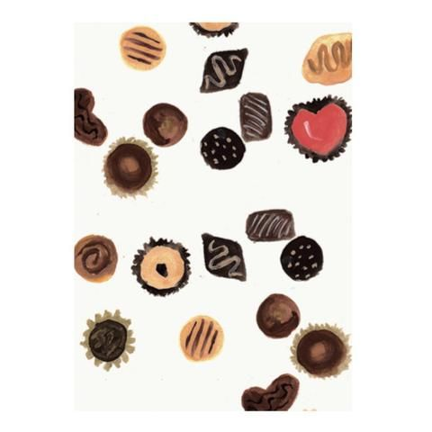 Chocolates greeting card by NUNUCO® #nunucodesign