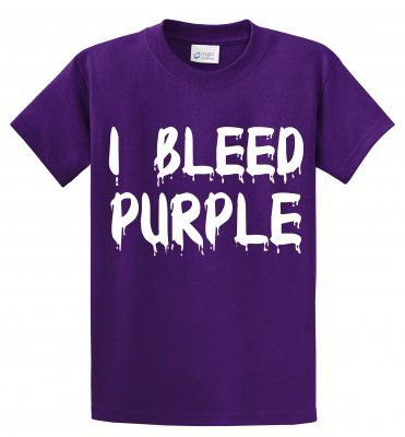 Everything Summer Camp - Team Spirit: I Bleed Purple http://www.everythingsummercamp.com/product.php?pc_product_id=1721