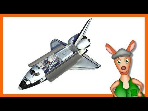 NASA SPACESHIP/ ROCKET: Space shuttle videos for kids  children  toddlers. Kindergarten learning. - YouTube