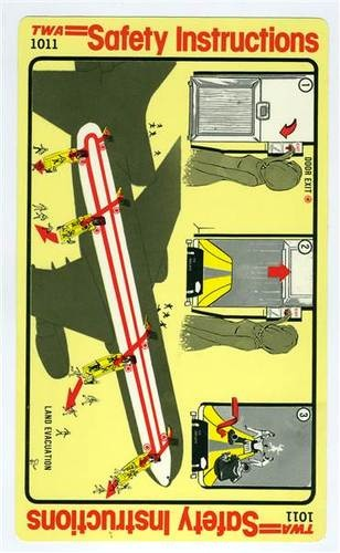 airplane emergency exit instructions