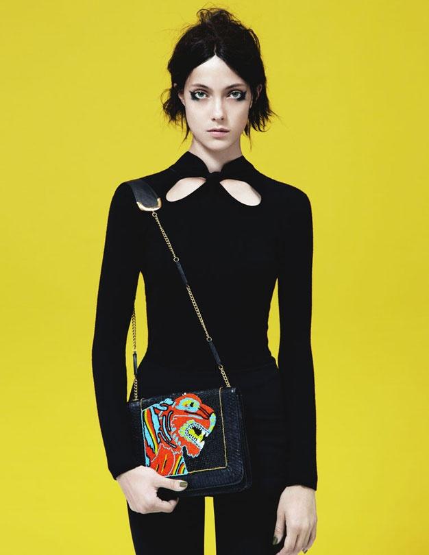 #tiger satchel #Angeljackson campaign shot by Sarah Piantadosi