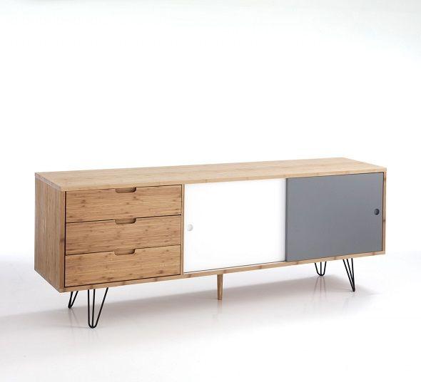 Comoda Hijo reprezinta un spatiu pentru depozitare modern. Lemnul de bambus si culorile specific scandinave ofera autenticitatea acestei piese de mobilier. Descopera mai mult pe #SomProduct. #InspiringComfort #comoda #furniture #design