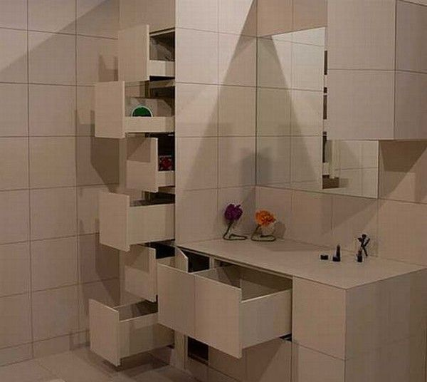 Ingenious  Hidden Shelves Behind Ceramic Tiles 12 best bathroom ideas images on Pinterest Bathrooms