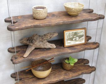 driftwood shelves, display shelving, shelving system, shelves, custom,handcrafted,reclaimed shelf