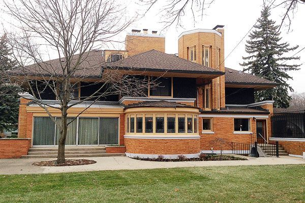 William Winslow House. River Forest, Illinois, 1893. Frank Lloyd Wright. Prairie Style