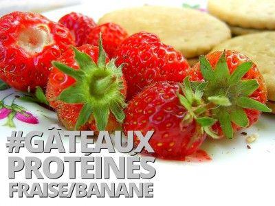 Gâteaux protéinés fraise-banance-avoine