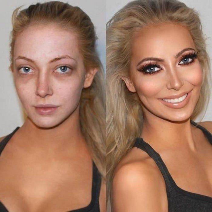 فن الماكياج بصور قبل وبعد فن بنات صورة ٦ Makeup Makeover Contour Makeup Makeup Transformation