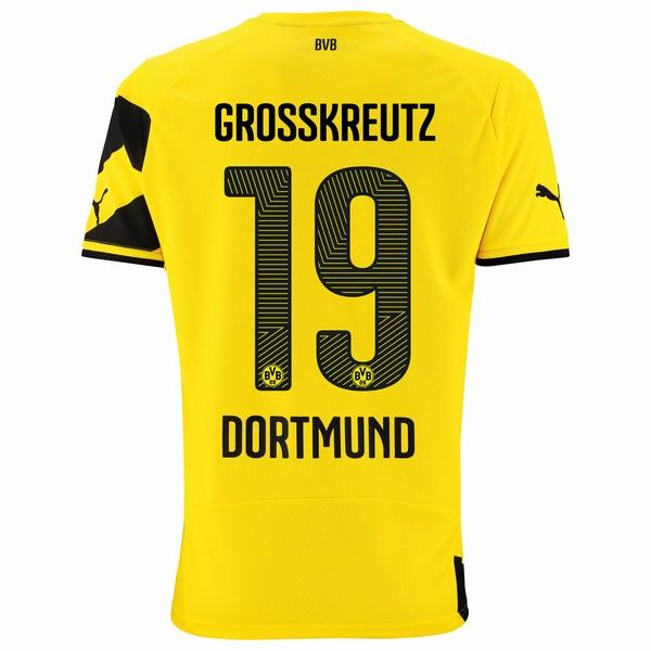 2014/15 Kevin Grosskreutz 19 Dortmund Home Soccer Jersey shirt