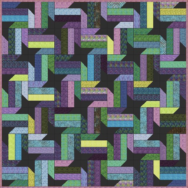 Lets Quilt Something: Nebula - Free Quilt Pattern - Jelly Roll
