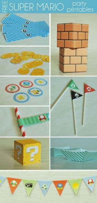 Free Super Mario Birthday Party Printables