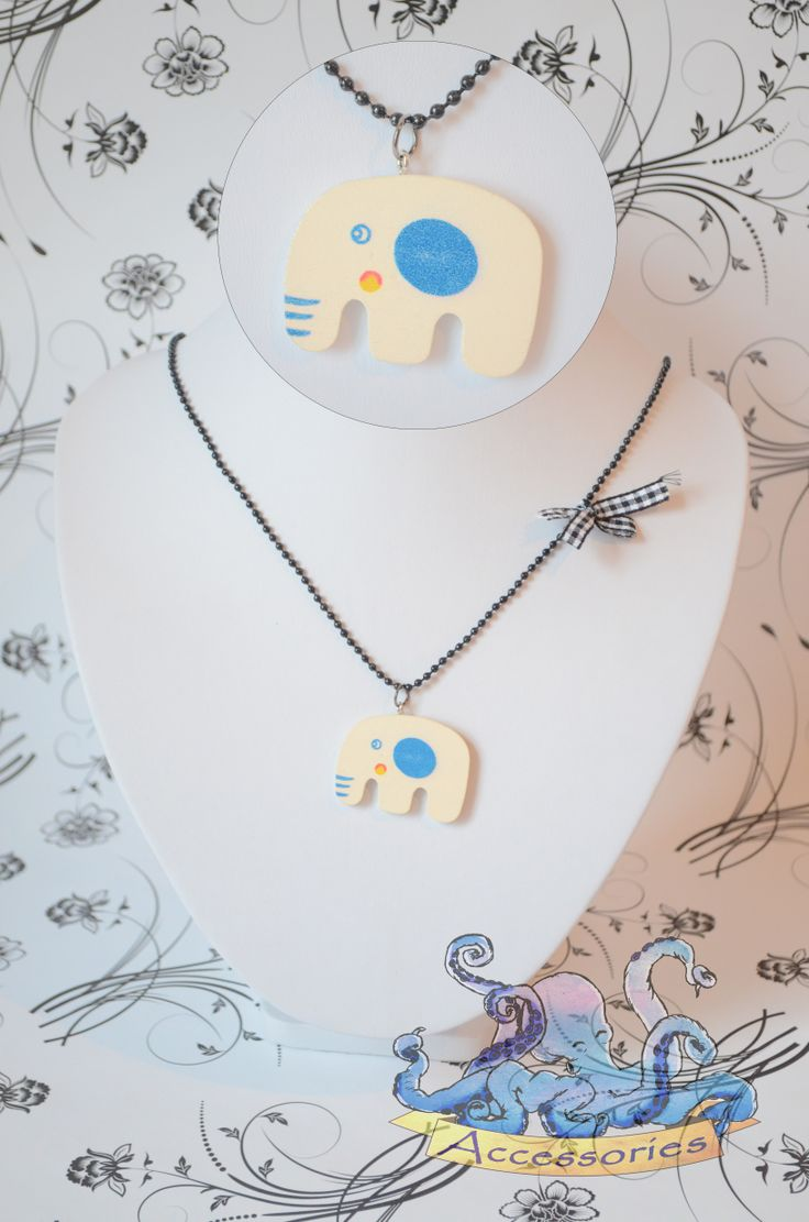 sweet wooden elephant necklace