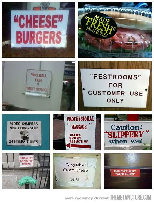 Suspicious Quotation Marks Everywhere: Mark Suspici, Funny Things, Pet Peeves, Grammar Police, Quote, Suspici Quotations Mark, Funny Stuff, Quotation Marks, Funnier Stuff