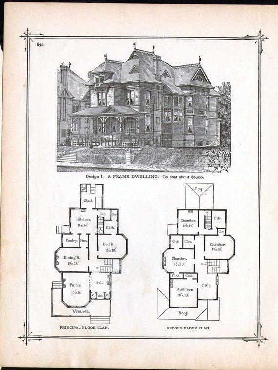 Gothic Victorian House Plans Elegant Gothic Frame Dwelling Vintage House Plans 1881 Antique Victorian House Plans Gothic House Vintage House Plans