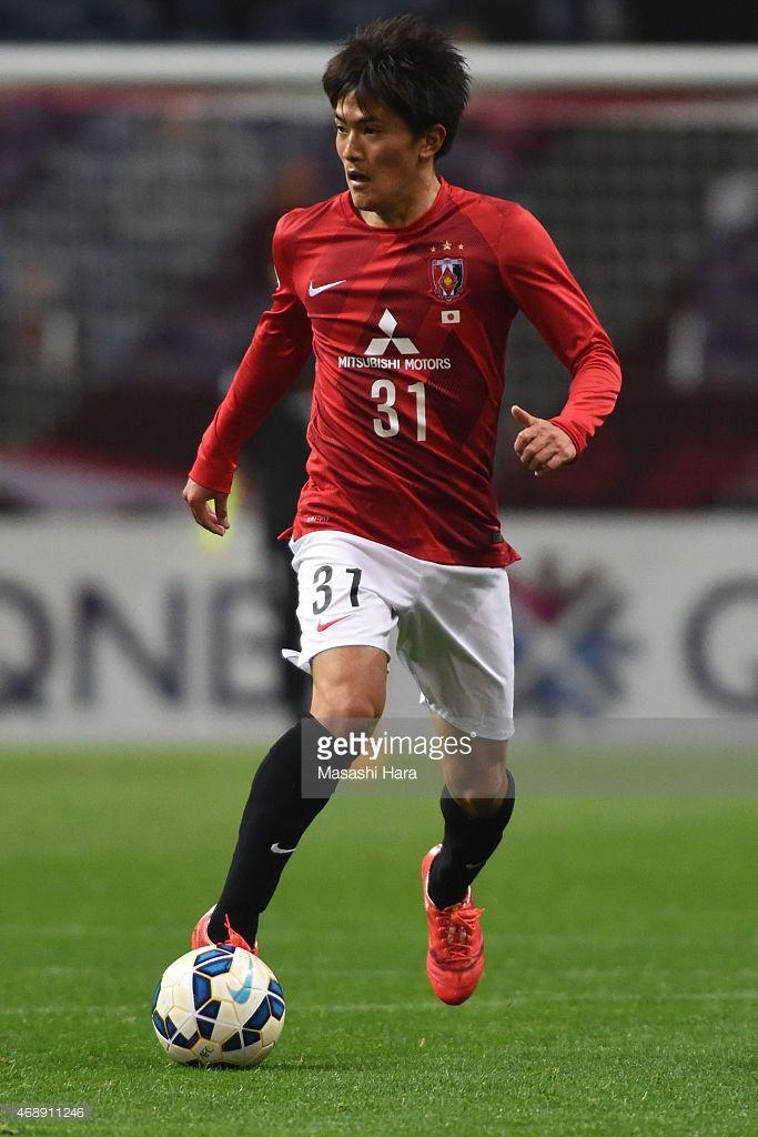Toshiyuki Takagi #31 of Urawa Red Diamonds in action during the AFC Champions League Group G match between Urawa Red Diamonds and Beijing Guoan at Saitama Stadium on April 8, 2015 in Saitama, Japan.