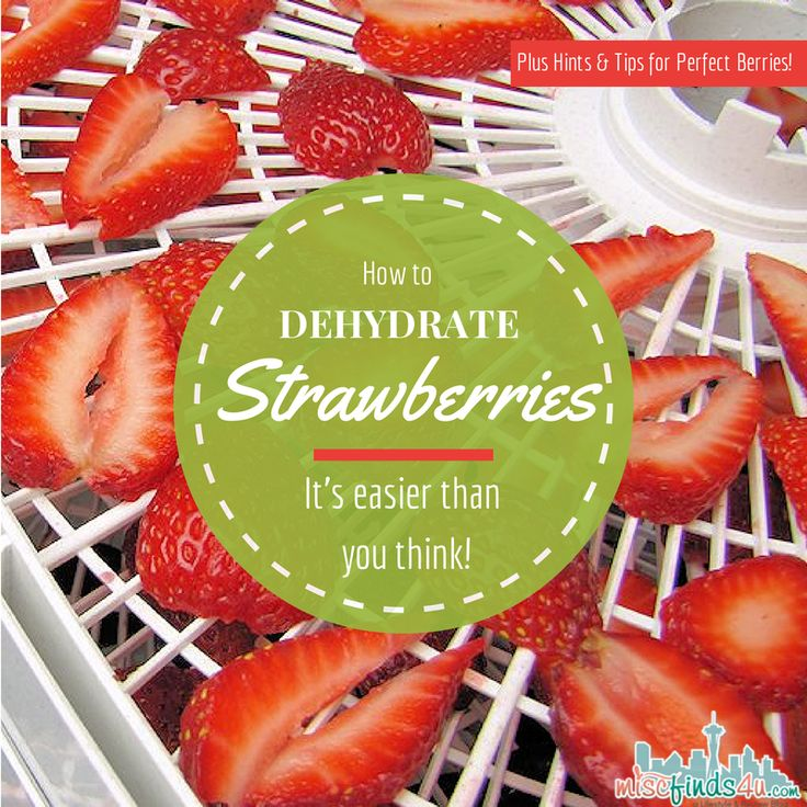 How to Dehydrate Strawberries - Hints and Tips for Perfect Dried Berries - simple and easy ways to make homemade dried fruit for snacking and baking.