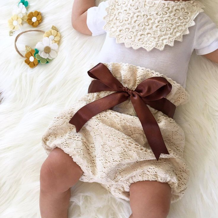 Earth Child Cotton Lace baby bloomers by Eighteen Fifty One