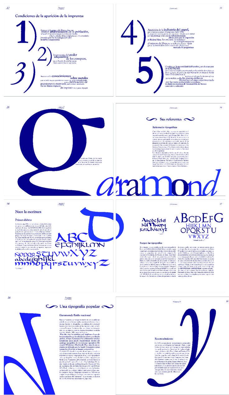 Libro de Garamond, Tipografia 2 cátedra Gaitto, 2014
