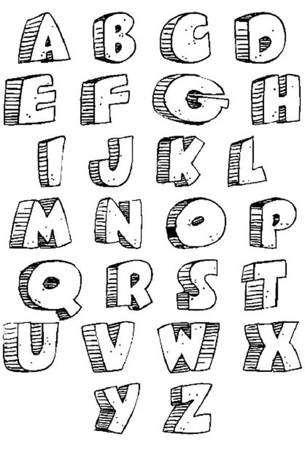 Cool Letter Fonts | ... Alphabet black and white, Graffiti Fonts , Graffiti Alphabet letters