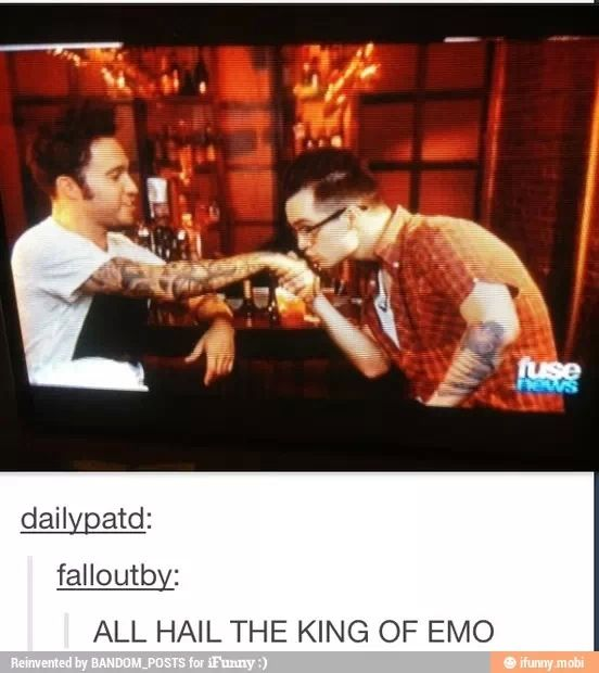 Brendon has learned his place and accepts that Pete is just much more emo than him