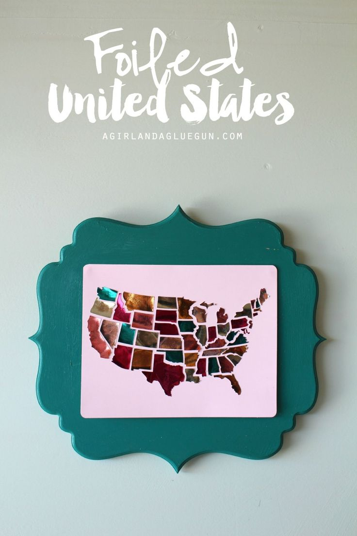 Best Silhouette Projects Images On Pinterest Silhouette - Us state map diy photos