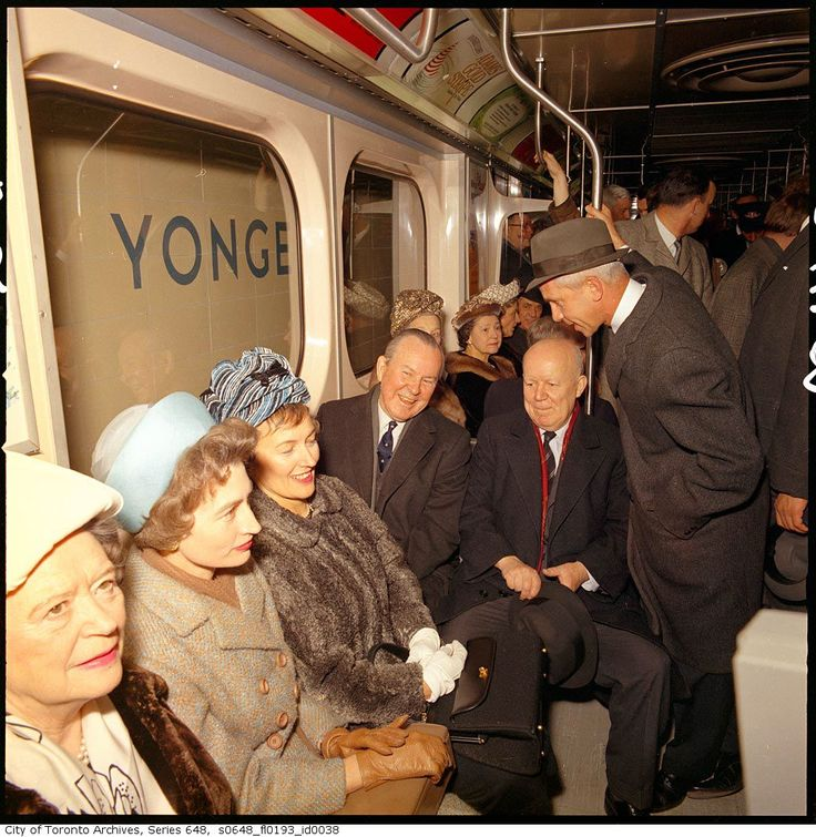 Then-prime minister Lester B. Pearson was one of the first to ride the Bloor train on Feb. 25, 1966.